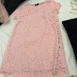 Baby Pink Box Dress