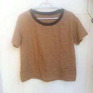 Orange/browny Stripe Tee