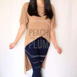 long back shirt (brown , white)