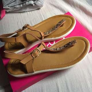So Fab Slip On Strap Sandals