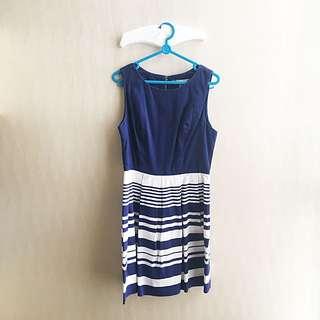 Navy Blue Dress Stripes Forever21