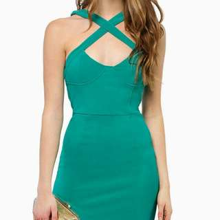 Jade Criss-cross Front Bodycon Dress Size M