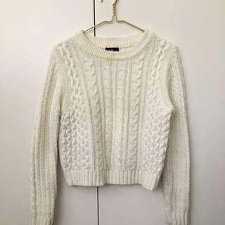 Dotti white knit chunky sweater