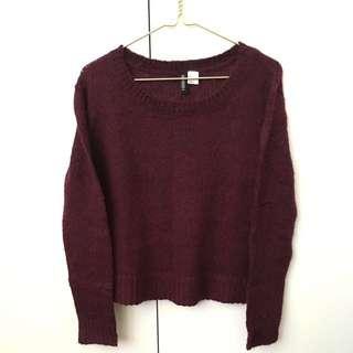 H&M Maroon knit sweater