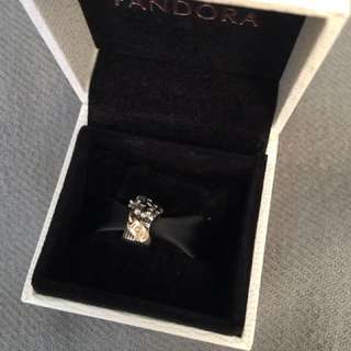 Retired Authentic Pandora Silver And Gold Love Bouquet Charm