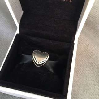 Retired Authentic Pandora Ring In Heart Box Charm