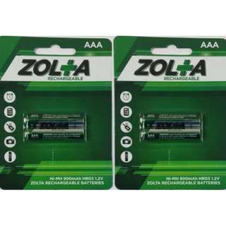 #UOBPayNow ZOLTA Rechargeable Ni-MH AAA 1.2V 900mAh (2 Per Pack) x 2
