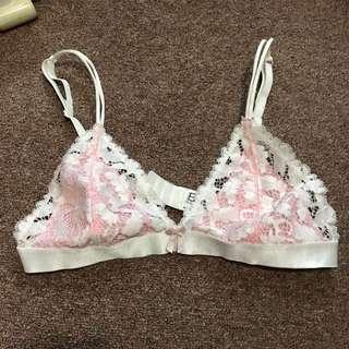 Pink & White Bralette