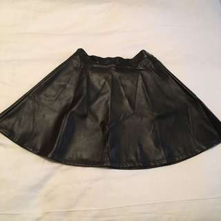American Apparel Leather Circle Skirt