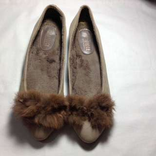 Joy & Peace suede leather with fur