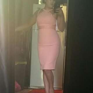Ladies Peach/pink Coloured Dress