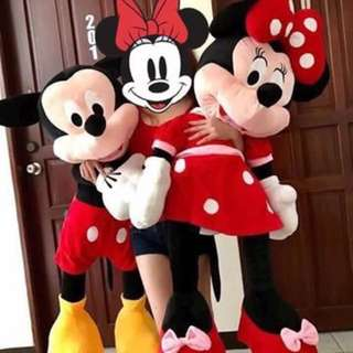 4.2ft Mickey/Minnie Mouse Stuffed Toy