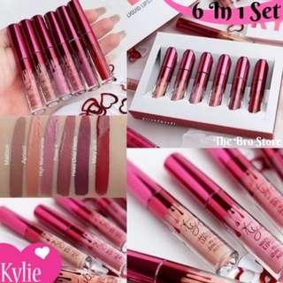 Kylie Valentine's Edition 6 In 1 Mini Matte Liquid Lipstick Set