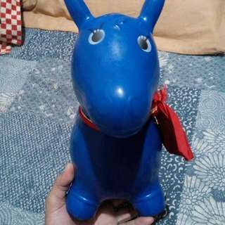 Inflated rubber horse