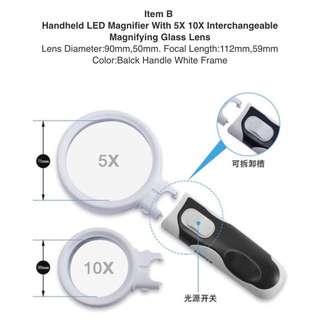 Handheld LED Magnifier Magnify Glass Lens