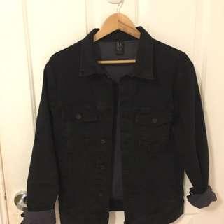 silent theory black denim jacket
