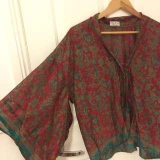 kimono style shirt - tree of life