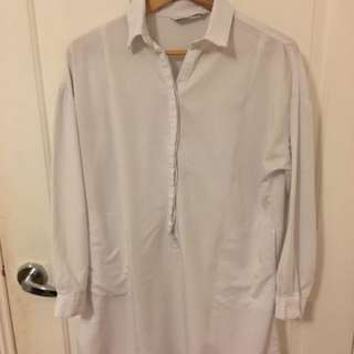 white shirt dress w/ pockets!!