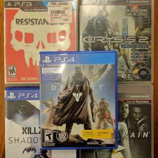 PS3 and PS4 Games For Sale