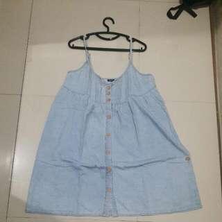Terusan Blue jeans big sizeLD kurleb 100