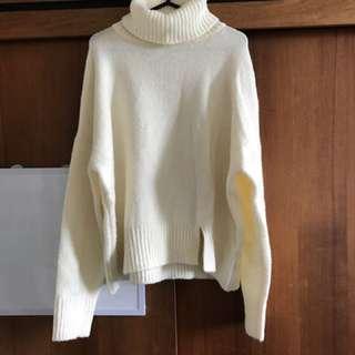 White Knitwear Loose Fashion