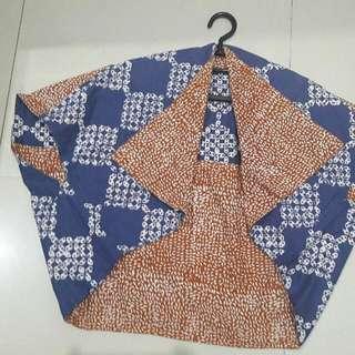 Bolero Batik bolak balik biru coklat