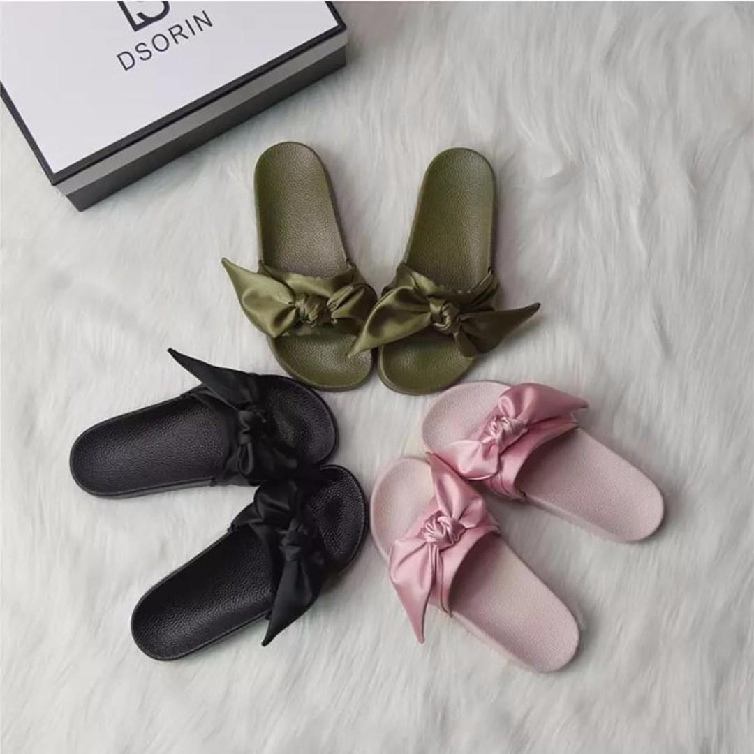 2017歐美緞帶唯美拖鞋