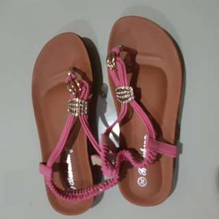 Sandals With Pink Straps And Bling Blings