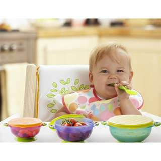 Hogokids Stay Put Suction Bowl, 3 Piece