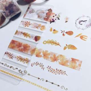 Repacked Washi Tape -- Autumn