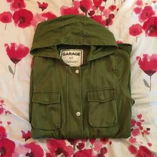 Garage Green Drawstring Jacket