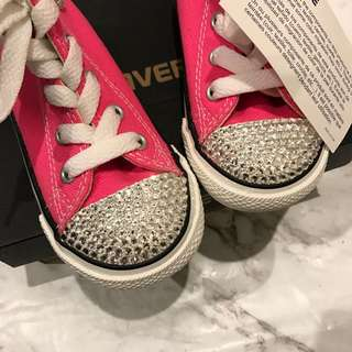Swarovski Crystal converse Shoes