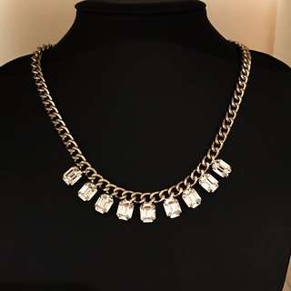Swarovski Crystal Gold Necklace