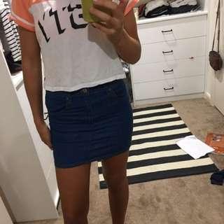 Denim Skirt Fits 8-10