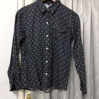 Polka Black Denim Look Shirt