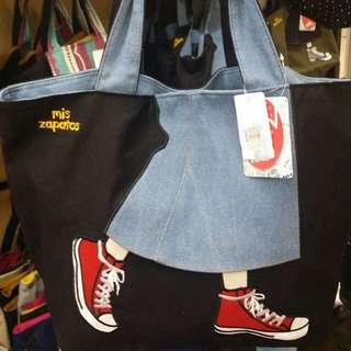 連線代購--Mis Zapatos 帆布袋 生日禮物 紀念禮物