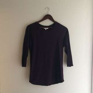 Aritzia Community 3/4 Sleeve Tunic Top