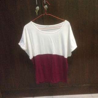 SALEE!!! Blouse White Purple