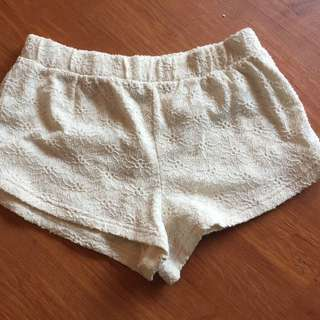 White Lace Forever 21 Shorts