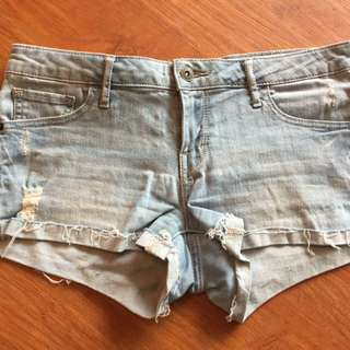 Ripped Guess Jean Shorts