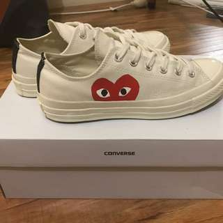Converse x Play CDG Shoes - Off White
