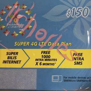 Smartone 數碼通 4G半日及1Mbps半日 儲值卡 上網卡  村屋救星 (全新未開卡) [數碼賓]