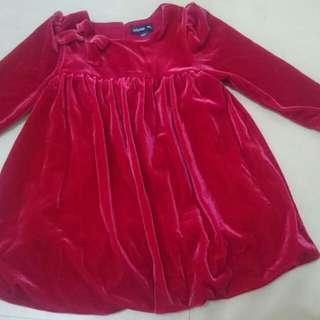 Baby GAP Red Balloon Dress