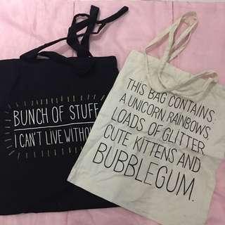 H&M Tote Bags