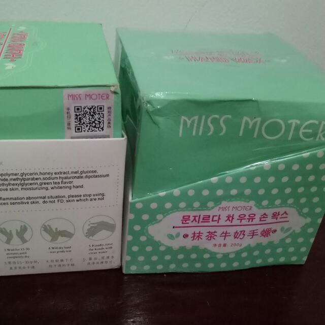 2 Buah #Miss Moter Matcha & Milk. Handwax# (1 Sudah Dibuka 1 Kali Pakai +1 Belum Dibuka Sama Sekali)