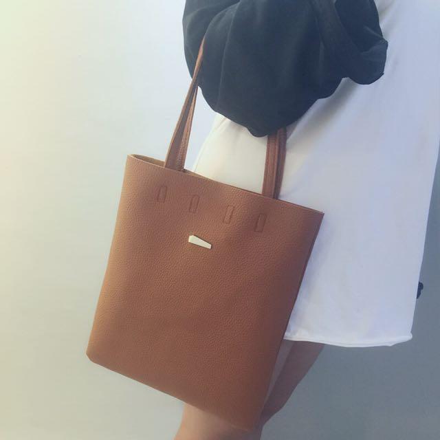 日系荔枝紋手提包