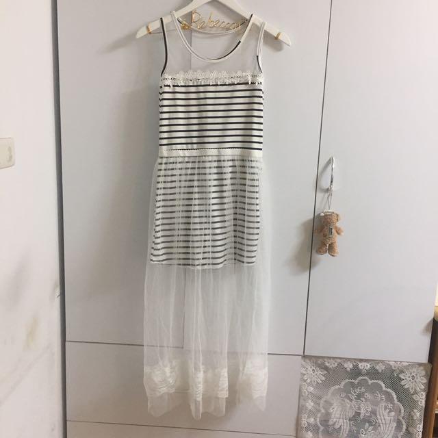 假兩件紗裙洋裝