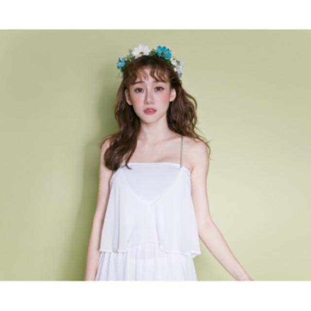 💃🏻全新·背交叉細肩帶雪紡洋裝