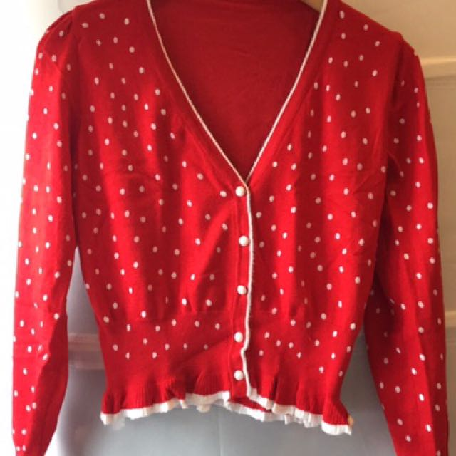 紅色點點 小外套 罩衫