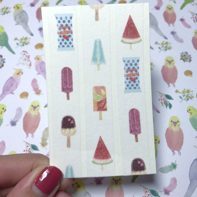 [分裝]信的戀人 夏祭系列(棒冰)陸製 紙膠帶